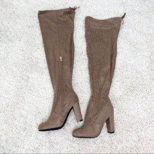 Journee Collection Shoes - *SALE* NWOT Faux Suede Thigh High Boots